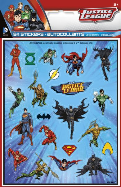 Justice League Sticker Sheets (4)